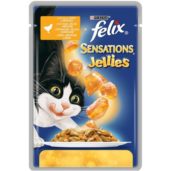 PURINA FELIX Sensations Jellies Chicken & Carrot in Jelly