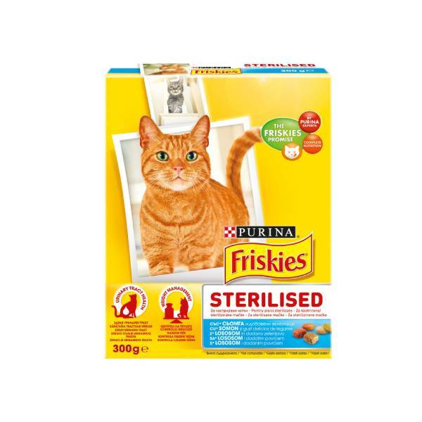 PURINA FRISKIES Cat Sterilized Salmon & Vegetables