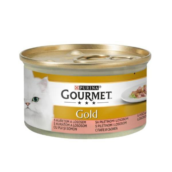 PURINA Gourmet Gold Cat Cig Chicken & Salmon in Sauce 85 g